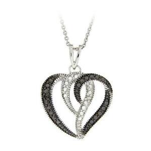 Black diamond necklace ebay black and white diamond necklace aloadofball Image collections