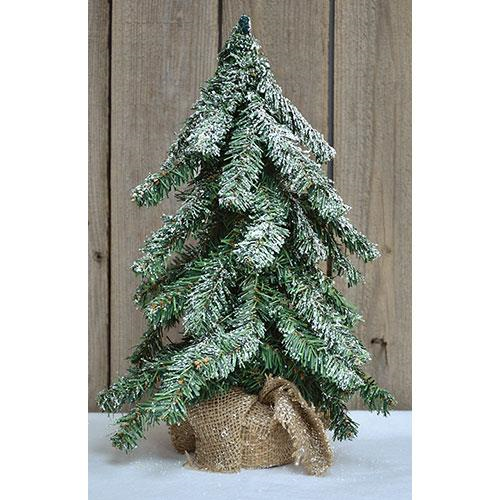 """Primitive Country Charlie Brown Faux 30/"""" Christmas Tree with Burlap Base"""