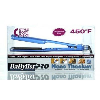 "NEW Babyliss Pro Nano Titanium C Styler 1 1/2"" BABNTC3556 Hair Flat Iron"