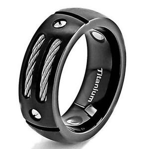 Mens Black Titanium Ring