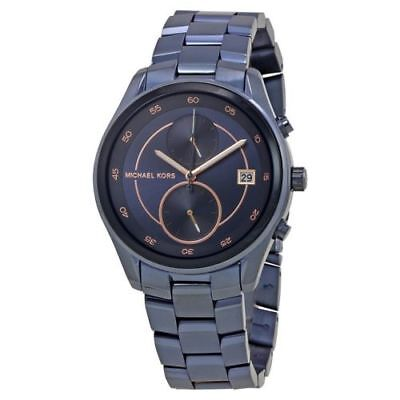 Michael Kors Women's Briar MK6468 Blue Stainless-Steel Quartz Fashion Watch