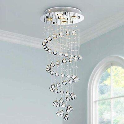Saint Mossi Modern K9 Crystal Spiral Raindrop Chandelier Lighting SM-DY-1603002