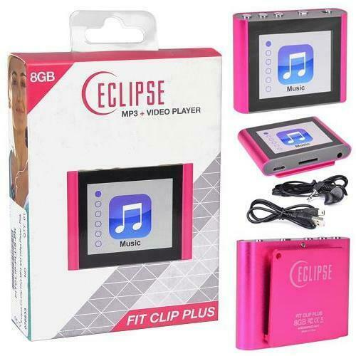 Eclipse Fit Clip Plus PK 8GB MP3 Digital Music/Video Player
