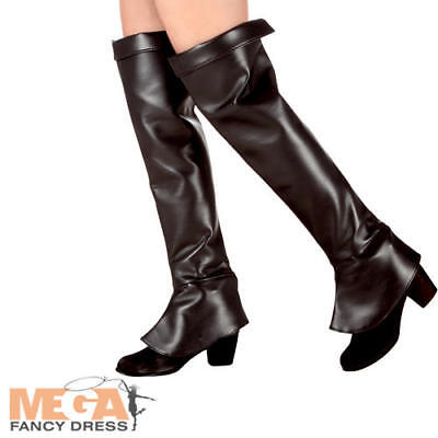 Hunter Boot Tops Covers Ladies Fancy Dress Pirate Womens Adult Costume Accessory - Hunter Boot Covers