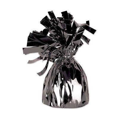 Black Metallic Wrapped Balloon Weight](Black Balloon Weights)
