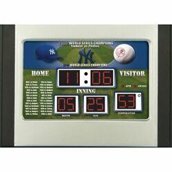 MLB New York Yankees Scoreboard Desk Clock