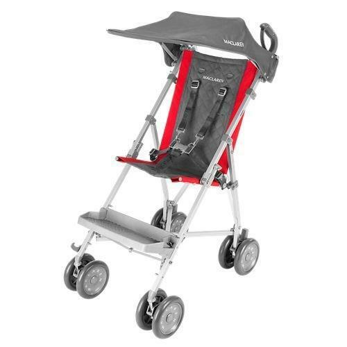 Maclaren Major Elite Transport Chair, Cardinal With Sun Hood + Shopping Basket