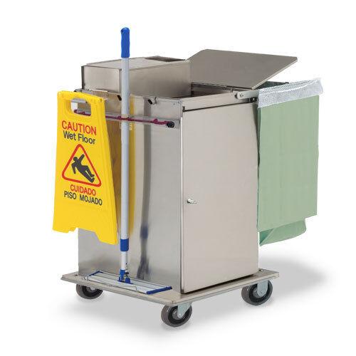 Royce Rolls #MP30E Stainless Steel Mini-Size Microfiber Housekeeping Cart