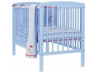brighton cot in baby blue