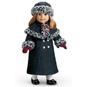 American Girl Doll Samantha's Friend NELLIE'S Gray HOLIDAY COAT Jacket + HAT