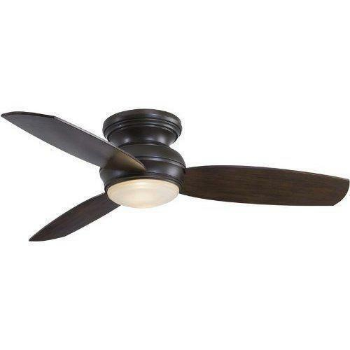 Minka Aire 52 Gauguin Tropical 4 Blade Indoor Outdoor: Flush Mount Outdoor Ceiling Fan