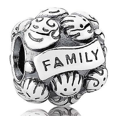 PANDORA Charm Element 791039 Family Love Silber Beads