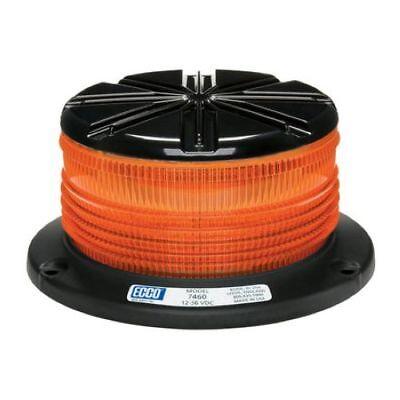 Ecco 7460A LED Beacon Permanent Mount Amber Lens ()