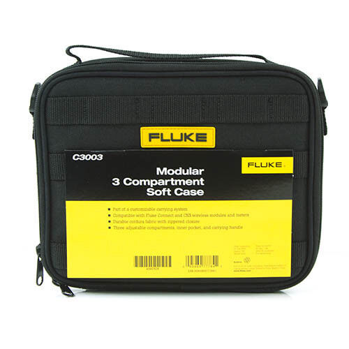 Fluke C3003 Modular Soft Carrying Case with Zipper and 3 Compartments