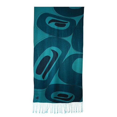 Corrine Hunt Wool-Soy Blend Turquoise Shawl