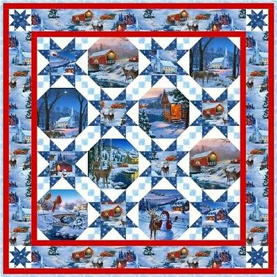 Country Christmas Quilt Kit by Elizabeth's Studio 48-1/2x48-1/2""