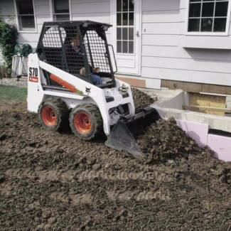 BOBCAT 900MM WIDE SKID STEER LOADER DRY HIRE 4IN1 BUCKET &TRAILER