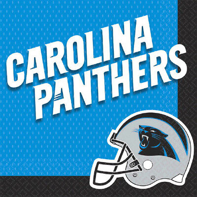 NFL CAROLINA PANTHERS LUNCH NAPKINS (16) ~ Birthday Party Supplies Serviettes (Nfl Party Supplies)