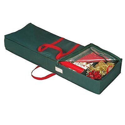 Holiday Underbred Gift Wrap Organizer – Green with Red Handles