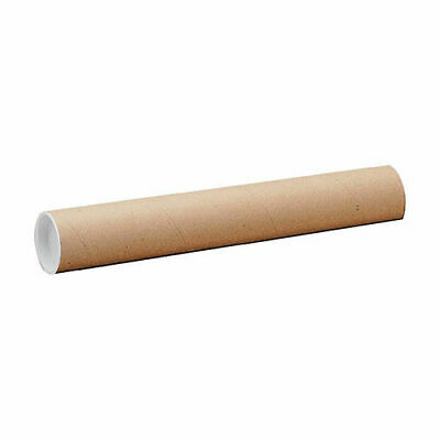 Postal Tube Cardboard with Plastic End Caps A2 L 450 x Dia.50.8 mm [Pack 25]