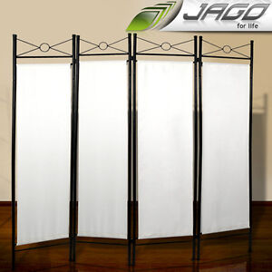 6x5.2FT Iron Divider Screen 4 Panel Partition Room Dressing Privacy Folding Wall