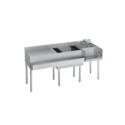 Krowne Metal 18-w66r Standard 1800 Series 66w Underbar Ice Bincocktail Station