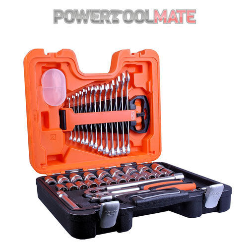 """Bahco S400 40 Piece 1/2"""" Metric Sockets and Combination Spanners Set"""