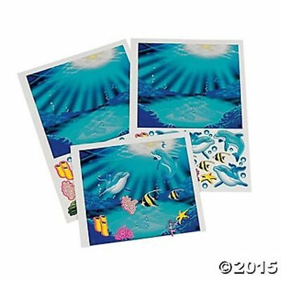 12 Make Dolphin Ocean Stickers Birthday Party Favors Gifts Luau Tropical](Dolphin Birthday Party)