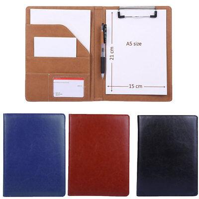 Executive A5 Men Business Conference Folder Wclipboard Pu Leather Document File