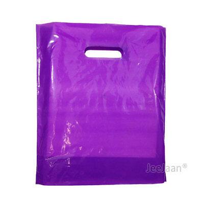 100 Purple Plastic Carrier Bags 10