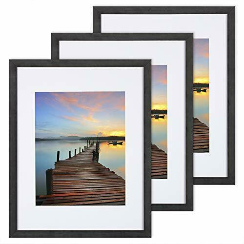 11x14 Picture Frame 3 Pack with Detachable Mat for 8x10 Pictures Wall Mounting