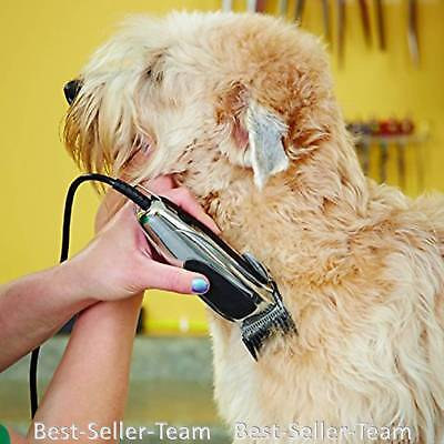 Pet Clippers Kit Dog Hair Trimmer 12Piece Adjustable Blade Andis Electric Shaver