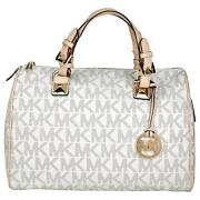 Brown White Purse