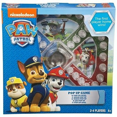 Pop Up Brettspiel ~ Pfoten Patrole Alter 4-10, Jungen Mädchen 2-4 Spieler Neu ()