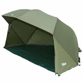 NGT fishing brolly with storm sides & poles plus groundsheet. 5,000mm hydrostatic head, brand new.