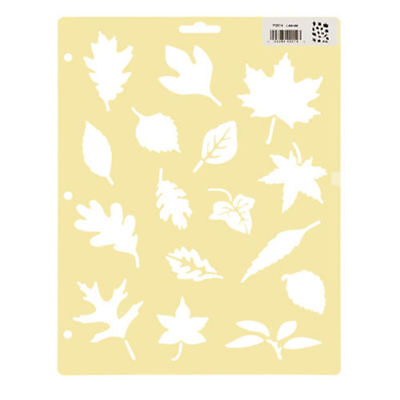 Darice Painting Stencils - Leaves - 8.5 x 11 inches - Harvest Fall Autumn Leaf