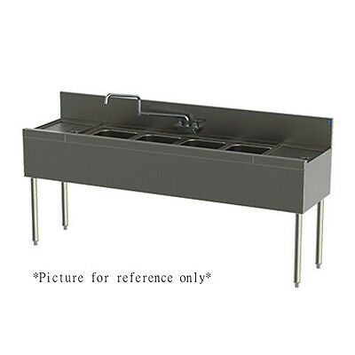 Perlick Tsd44c 48 Underbar 4 Compartment Sink