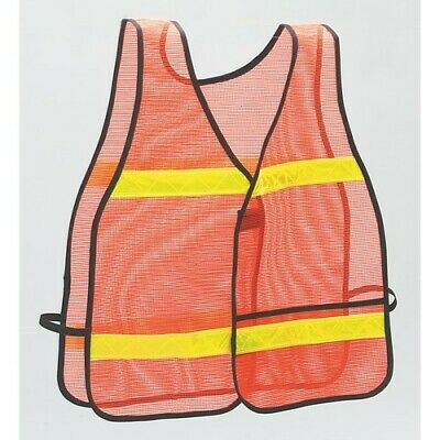 High Visibility Vest, Orange, Yellow Reflective Strips, Lighthouse for the Blind
