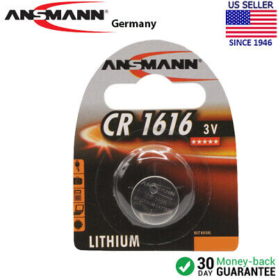Ansmann CR 1616 3v. Lithium Button / Coin Cell Battery - Exp. - Cr1616 Button
