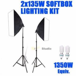 1350W Photography Studio Softbox Lighting X3 Mascot Rockdale Area Preview