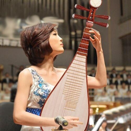 Chinese Soprano Pipa - Liuqin Lute Guitar Handmade Musical Instrument #4168