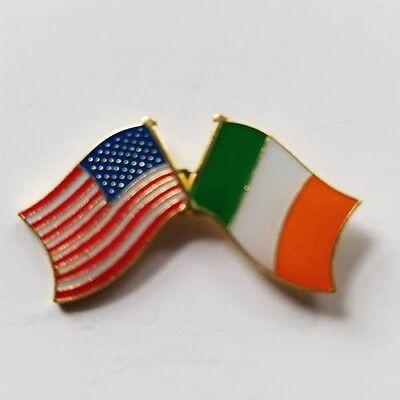 USA Flag Ireland Flag Lapel Hat Pin Tie Tac Irish American  FAST USA SHIPPING