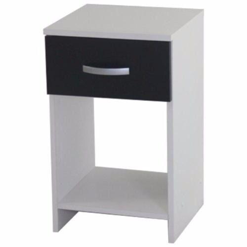 Black/White Bedside Assembled Ex-Display