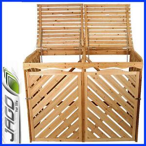 Wooden wheelie bin store ebay - Comment fabriquer un cache poubelle en bois ...
