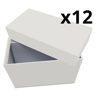 Index Card Box With 100 Ruled Index Cards 4 X 6 Gray Pack Of 12
