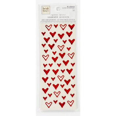 Heidi Grace Designs - Heidi Grace Designs Tweet Memories Collection FOIL EPOXY HEART Stickers