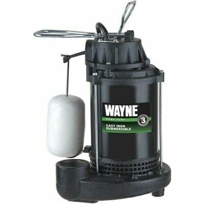 Wayne Cdu800 12 Hp Automatic Submersible Sump Pump Cast Iron Bottom Free Ship