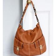Brown Leather Slouch Bag