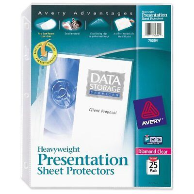 Avery Diamond Clear Top Loading Sheet Protector - Letter 8.50 X 11 -