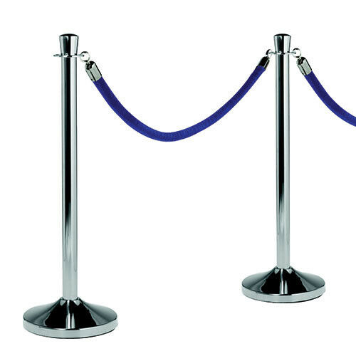 "Barrier System, Polished Chrome Post, 15""Diam.x40""H"